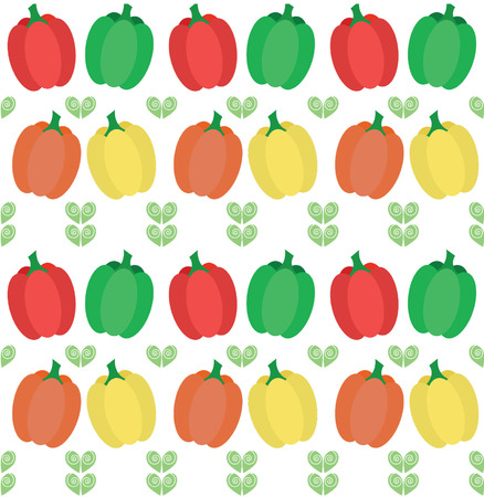 bell pepper: bell pepper illustration pattern Illustration