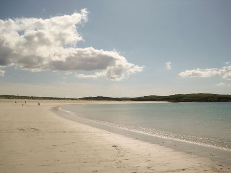 The beautiful Dogs Beach in Clifden, Ireland Stock Photo