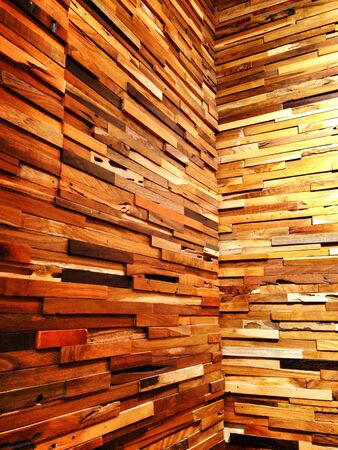 interior: Wooden wall design interior