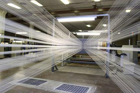 floor machine: Fabricaci�n de hilos sint�ticos