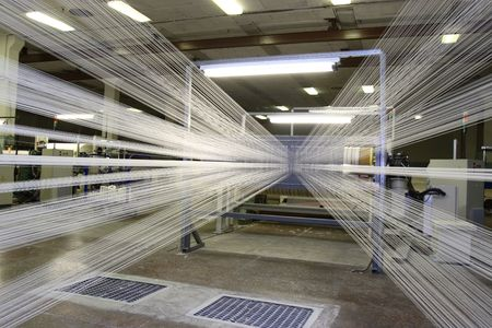 textile industry: Manufacture of synthetic threads