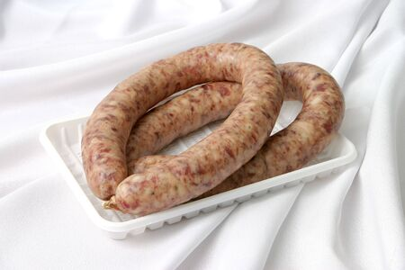 Ready house sausage on a plate