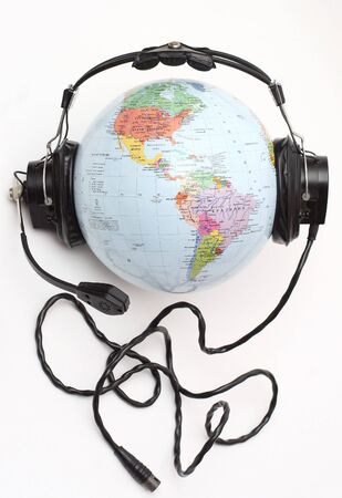 World with headphones (Names in Russian), listening to music