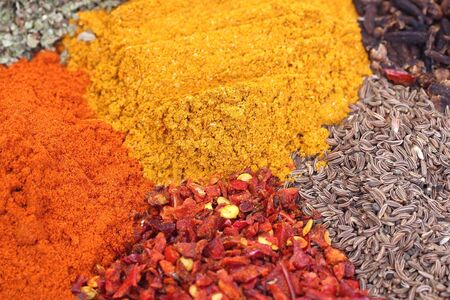 curry, cumin, basil, chile, pepper sweet photo