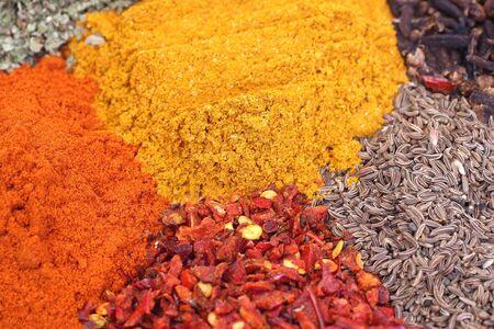curry, cumin, basil, chile, pepper sweet photo