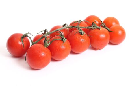 Cherry Tomato is a cultural variety of an ordinary tomato.  photo
