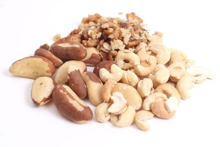 Mix of dry nuts Brazil nuts, Walnut and Cashew