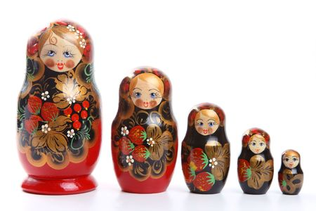 russian nested dolls: Russian nested dolls, also known as matryoshka, known as the  Stock Photo