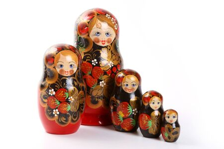 Russian nested dolls, also known as matryoshka, known as the  photo