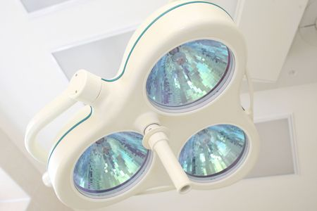 Modern lamp in a surgery room photo