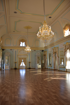 national congress: lue hall. The interior of the Blue hall of The National Congress Palace Konstantin palace in St. Petersburg