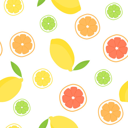 limon caricatura: Citrus seamless pattern. Pattern is in swatch panel.