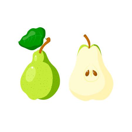 vectro: Hand drawn pear. Vector decorative element. Cartoon style.