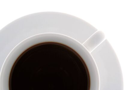 cup with black cofee isolated on white photo