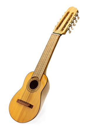 soundboard: Charango South American stringed acoustic instrument with 10 strings