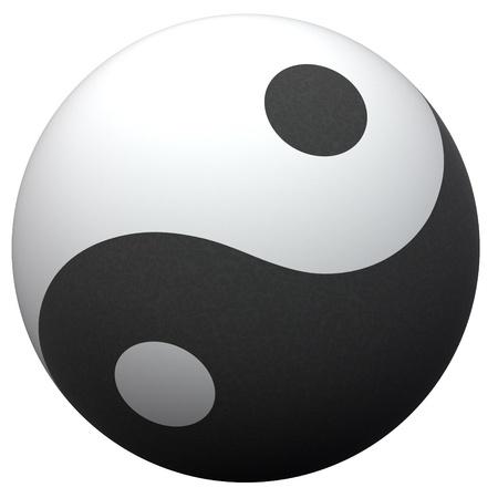 Yin-Yang plastic  ball  photo