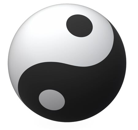Yin-Yang ball, balance symbol photo