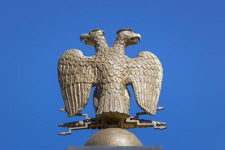 double headed: Double-headed eagle, heraldic symbol, Russia Stock Photo
