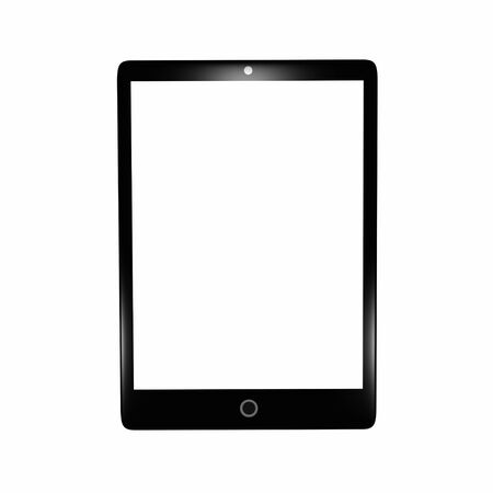 Isolated black tablet pc Stock Photo - 17167320