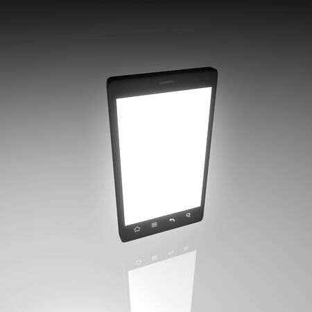 smartphone with white backlight