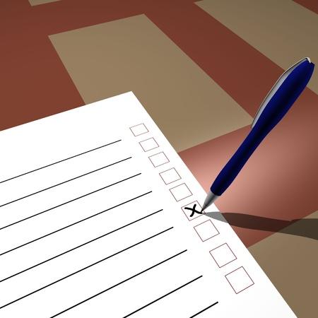 Voting testing Stock Photo - 17204191