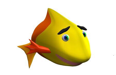 Funny fish 3d Stock Photo - 17255918