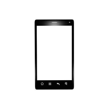 Isolated black smartphone Stock Photo