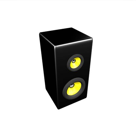 Isolate speaker with 2 dynamics