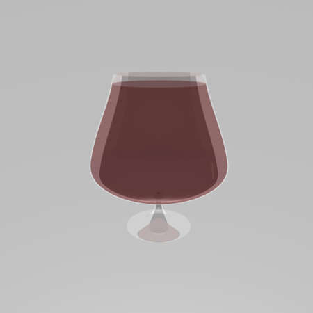 Isolated glass of red wine Stock Photo
