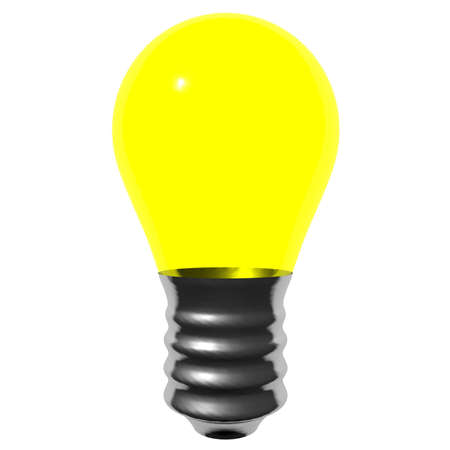 Yellow bulb isolated on white