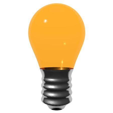 Orange bulb isolated on white