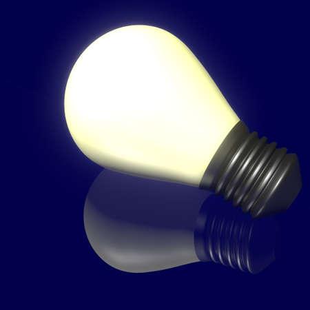 Shines bulb reflection on dark background Stock Photo - 17447903