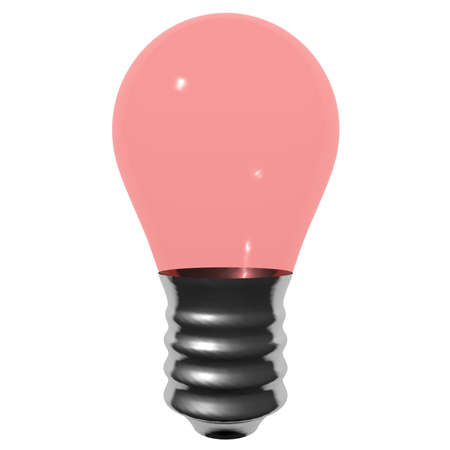 Pink bulb isolated on white