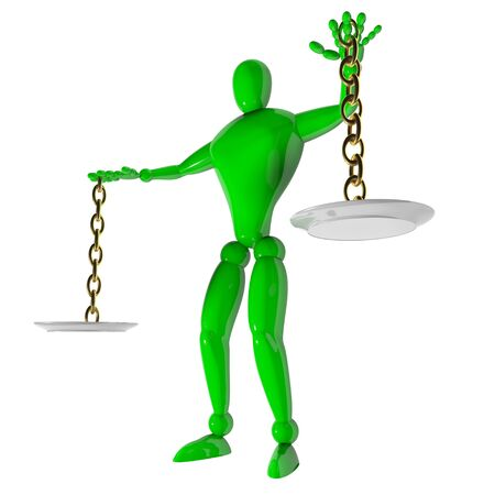 3d human weigher justice Stock Photo - 17623617