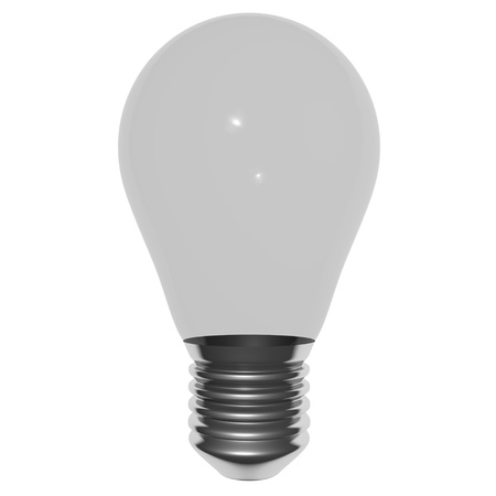 Simple bulb isolated on white Stock Photo