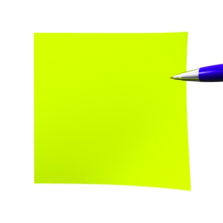 notelet: Acid empty sticky note isolated on white