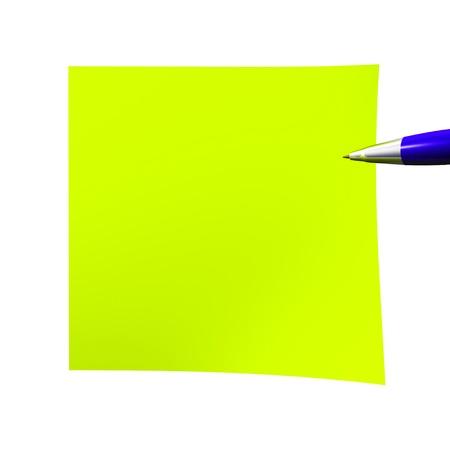notelet: Acid empty sticky note isolated on white