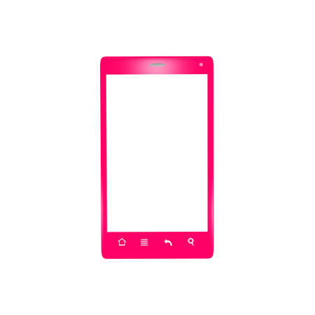Isolated pink smartphone