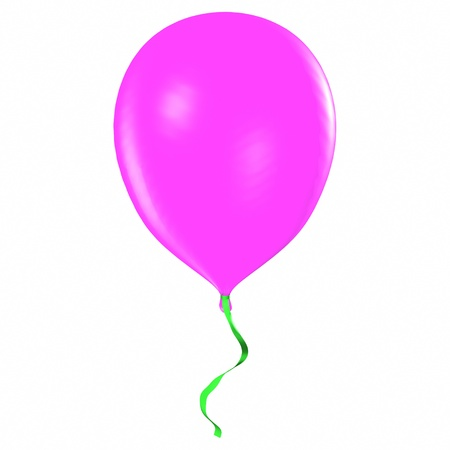 Purple balloon isolated on white Stock Photo - 19333564