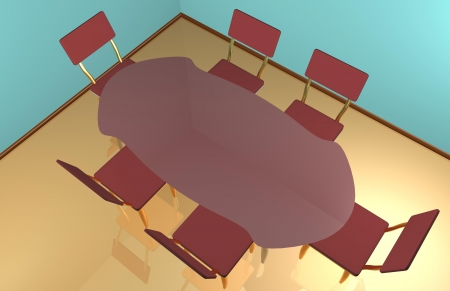 Dinning table rendered indoors photo