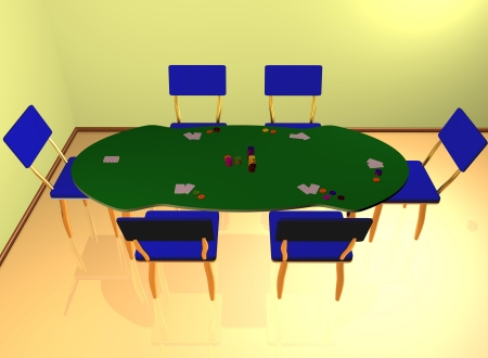 Poker blackjack gambling interior photo