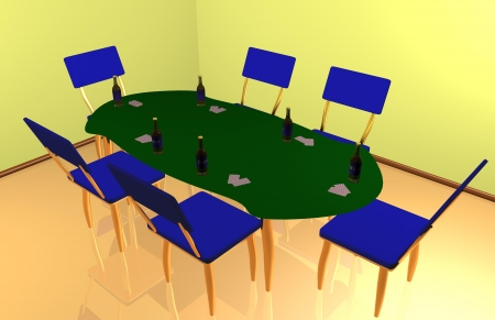 Poker with friends interior Stock Photo - 19401752