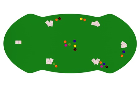 Poker table isolated photo