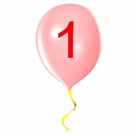 Number 1 on balloon