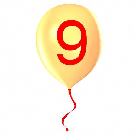 Number 9 on balloon photo