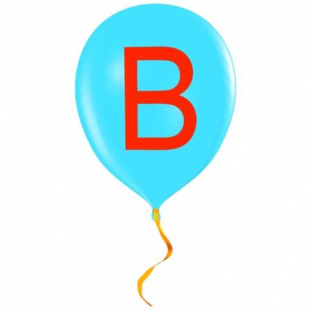 Letter B on balloon photo