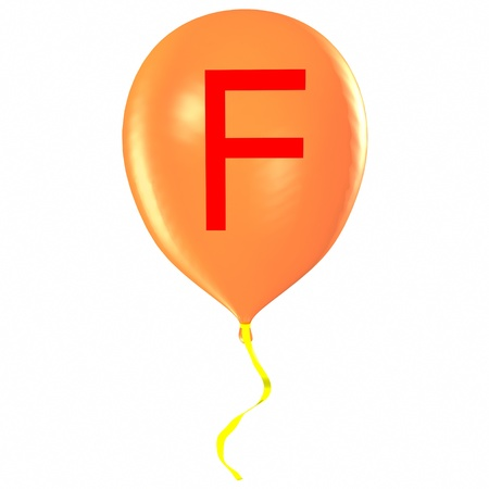 Letter F on balloon photo