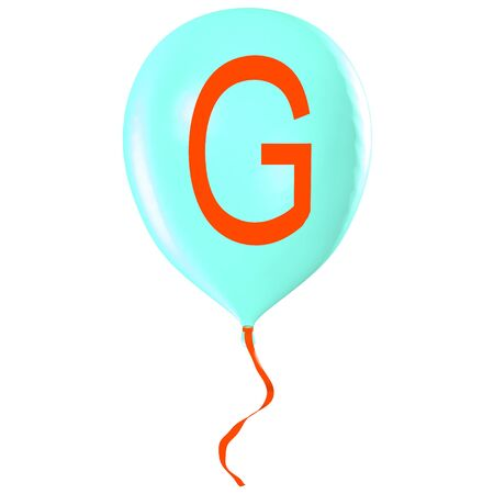 Letter G on balloon Stock Photo - 19560076