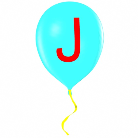 Letter J on balloon Stock Photo - 19560081