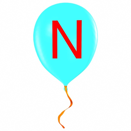 Letter N on balloon photo
